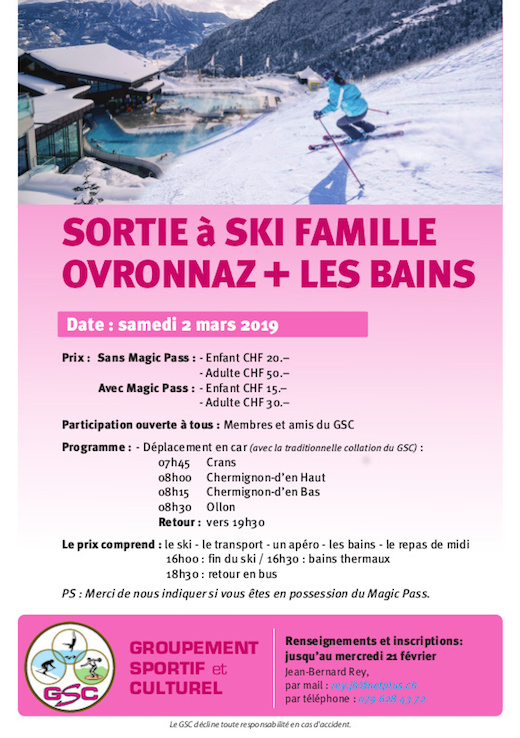 Sortie à ski + bains thermaux