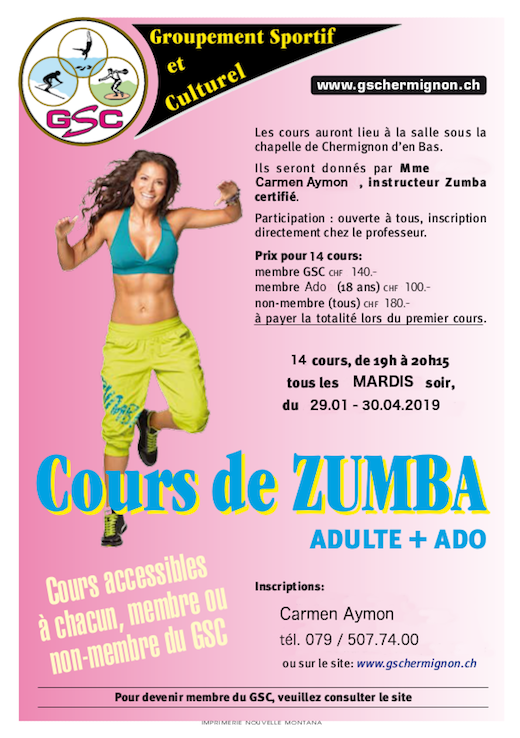 Cours Zumba Adulte + Ado